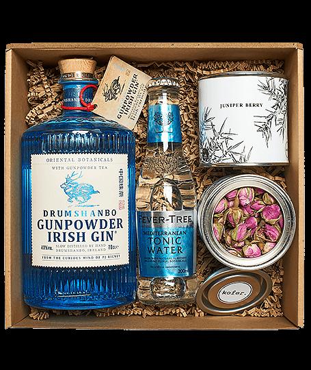 Gunpowder gin box perzsa rózsával és borókabogyóval