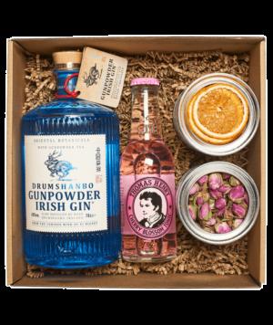Gunpowder gin box perzsa rózsával és szárított naranccsal