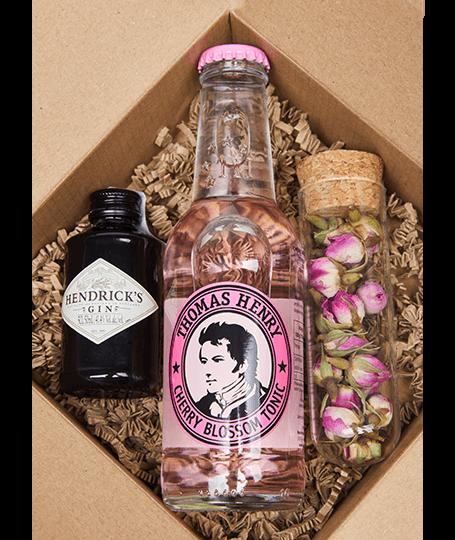 Hendrick's Mini Gin Box perzsa rózsával