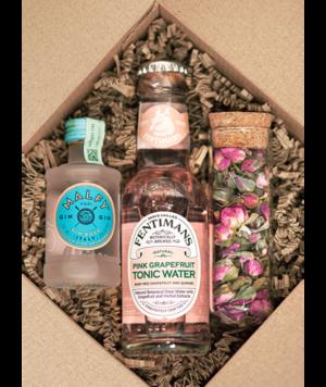 Malfy Rosa Mini Gin Box perzsa rózsával